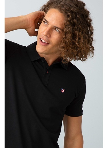 U.S.Polo Assn. Slim Fit Polo Yaka Tişört Siyah